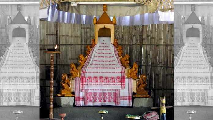 Representational image of a xinhaaxon or altar inside a namghar | Commons