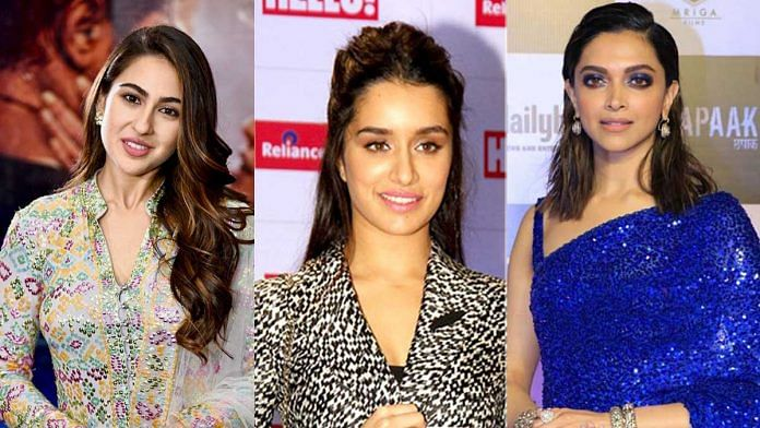 Bollywood actors Sara Ali Khan, Shraddha Kapoor and Deepika Padukone | Wikipedia Commons