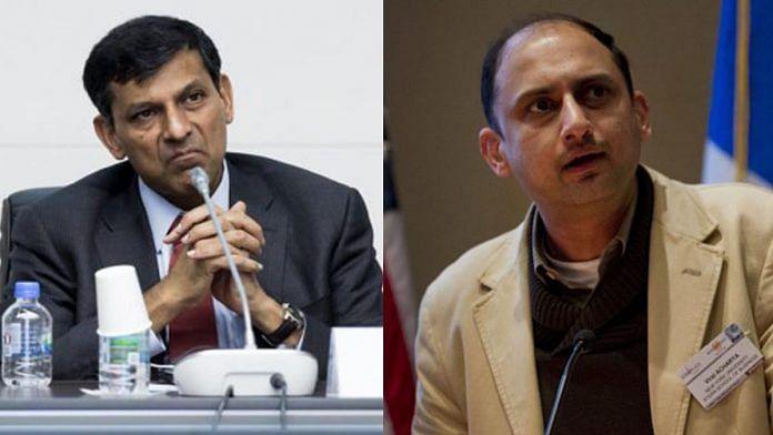 File photo of former central bankers Raghuram Rajan and Viral Acharya. | Photo: Tomohiro Ohsumi/Jin Lee/Bloomberg