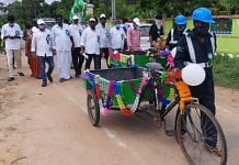 Sanitation workers in Kavali mandal, Nellore district. | Photo: Special arrangement