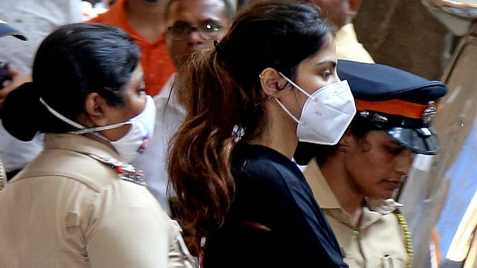 Actor Rhea Chakraborty being taken for medical examination after being arrested by the Narcotics Control Bureau in a drugs case Tuesday   ANI Photo