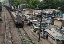 A view of the Azadpur slum area by the railway tracks | Suraj Singh Bisht | ThePrint