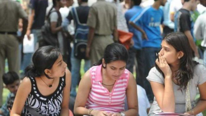 Representational image of college students   du.ac.in
