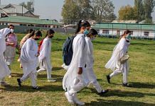 Students walk to attend their classes in a school in Srinagar | Representational image: PTI
