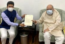 BJP MP Tejasvi Surya in a meeting with Home Minister Amit Shah in New Delhi. | Photo: ANI
