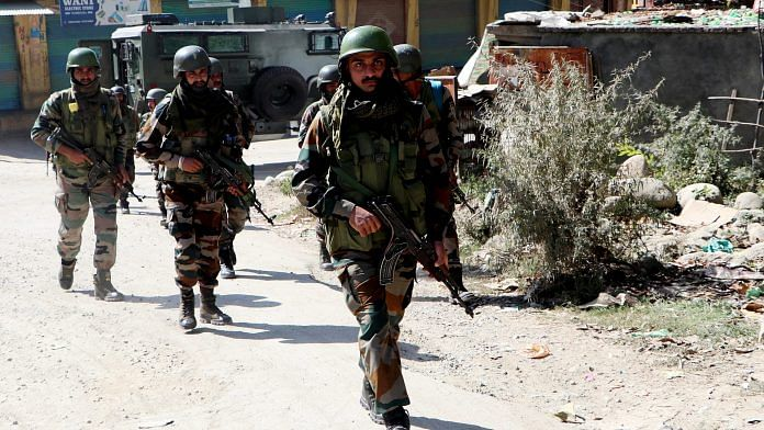 Representational image of Army personnel in Jammu and Kashmir | ANI