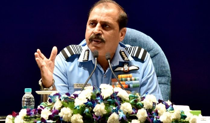 Air Chief Marshal RKS Bhadauria addresses a press conference in New Delhi Monday   ANI