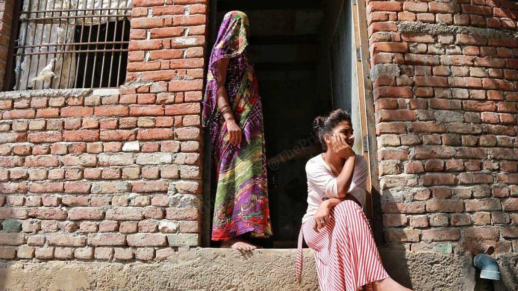 Brahmin women at a house in Boolgarhi village, Hathras | Photo: Manisha Mondal | ThePrint