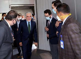 Afghan leader Abdullah Abdullah arrives in New Delhi earlier this week | Twitter | @DrabdullahCE
