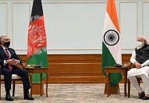 Afghan leader Abdullah Abdullah with PM Modi in New Delhi on 8 October 2020 | Twitter | @DrabdullahCE