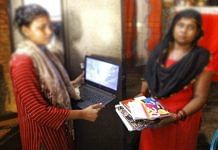 Sisters of the alleged Balrampur rape victim, who aspired to be a lawyer, with her books and laptop | Praveen Jain | ThePrint