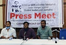 CFI members addressing the media in New Delhi Friday | Bismee Taskin | ThePrint