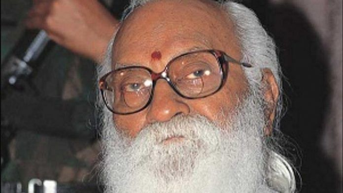 File photo of Nanaji Deshmukh | Twitter | @satyakumar_y