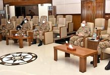 Pakistan Army officers at Corps Headquarters in Peshawar   @OfficialDGISPR
