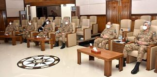 Pakistan Army officers at Corps Headquarters in Peshawar | @OfficialDGISPR