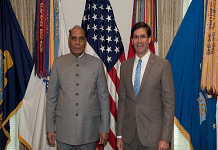 File photo of Defence Minister Rajnath Singh with US Defence Secretary Mark T Esper | ANI