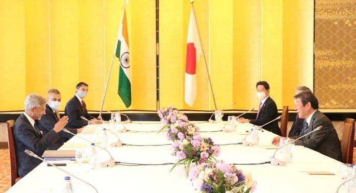 At the 13th India-Japan Foreign Ministers' Strategic Dialogue that was held in Tokyo between External Affairs Minister S. Jaishankar and his Japanese counterpart Motegi Toshimitsu | Photo: Twitter @DrSJaishankar