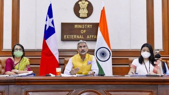 India-Chile Joint Commission meeting, co-chaired by External Affairs Minister S Jaishankar | Twitter/@DrSJaishankar