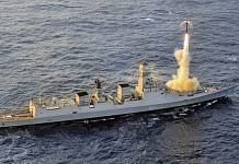 Brahmos lauBrahmos launch from INS Chennai | DRDOnch from INS Chennai | Twitter/@sneheshphilip