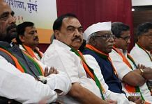Eknath Khadse (second from left) with several BJP leaders during a party workshop in Mumbai on 15 November 2020 | ANI File Photo