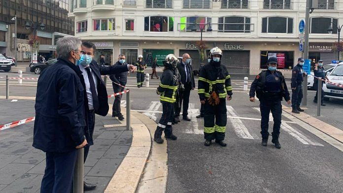 The knife attack which happened in France's Nice city Thursday has left at least 3 people dead and several injured   Twitter: @cestrosi