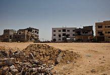 File photo of damaged houses in Gaza Strip