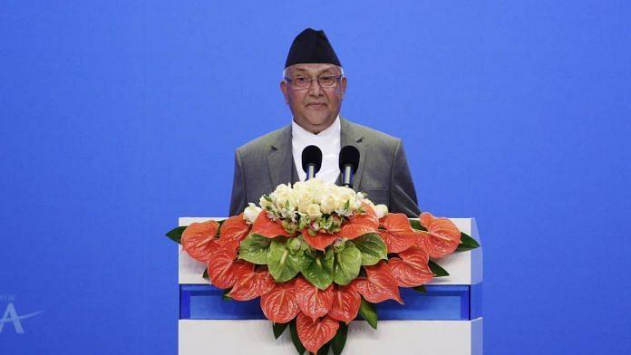 Nepal PM Khadga Prasad Sharma Oli in Boao, China, in March 2016 | Qilai Shen | Bloomberg
