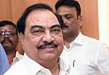 Senior Maharashtra leader Eknath Khadse has quit the BJP and plans to join the rival NCP | File photo: ANI