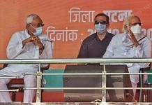 From Left to right - Bihar CM Nitish Kumar and PM Narendra Modi at a rally in Patna | Photo: Praveen Jain | ThePrint
