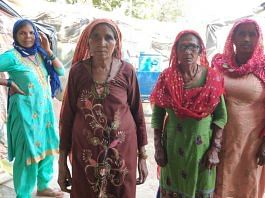 Women of the Dalit families who fled Mirchpur village after caste-related violence in 2010 | Photo: Jyoti Yadav | ThePrint