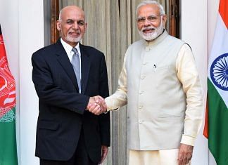 File photo of Narendra Modi and President of Afghanistan, Mohammad Ashraf Ghani, in New Delhi, 2018 | PIB