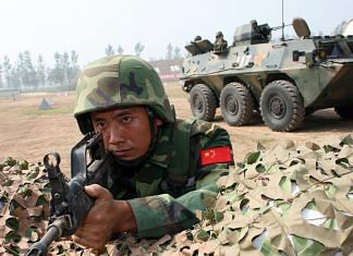 Representational image of a Chinese People's Liberation Army soldier at a base in Qinyang, China