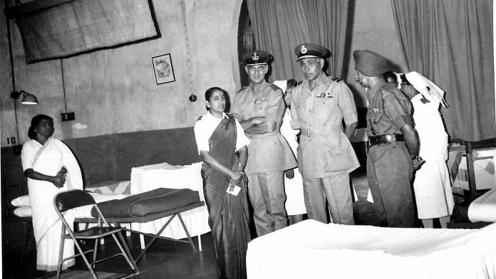 Vijayalakshmi Ramanan (left) with other officers | By special arrangement