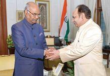 DU Vice-Chancellor Yogesh Tyagi with President Ramnath Kovind | Source: DU handbook