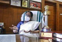 Kerala Health Minister K.K. Shailaja at her office in Thiruvananthapuram   Praveen Jain   ThePrint