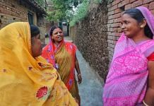 Sheela Devi, 45, chats with other residents of Parew village in Maner constituency. She claims CM Nitish Kumar has done good work but some concerns remain | Praveen Jain | ThePrint