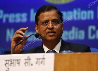 File image of former finance secretary Subhash Chandra Garg | Photo: Suraj Singh Bisht | ThePrint