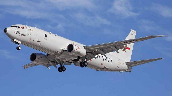 File image of US maritime surveillance aircraft P-8 Poseidon | Commons