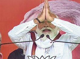 Prime Minister Narendra Modi addresses an election meeting, in Darbhanga | PTI