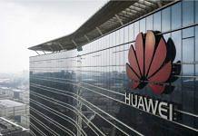 Huawei logo on a building   Qilai Shen   Bloomberg