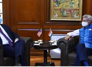 US Seputy Secretary of State Stephen Beigun (left) with EAM S Jaishankar (right) | Twitter @DrSJaishankar