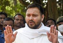 Rashtriya Janata Dal leader Tejashwi Yadav addresses media during the Bihar Assembly elections in Patna, Thursday, Oct. 29, 2020 | PTI