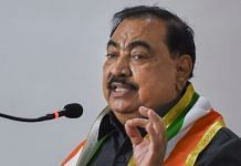 Former BJP leader Eknath Khadse speaks while joining the Nationalist Congress Party, at NCP office in Mumbai, Friday, 23 October 2020 | PTI