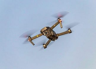 Representational image | A flying drone