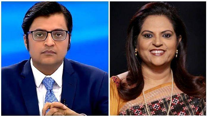 Arnab Goswami (left) and Navika Kumar | Facebook