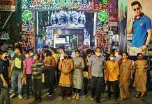 People at a Durga Puja pandal in Kolkata (representational image) | Manisha Mondal | ThePrint