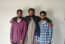 Twins Gowhar (left) and Shakir (right) with their father Bashir Bhat at their home in Batpora, Baramulla   By special arrangement