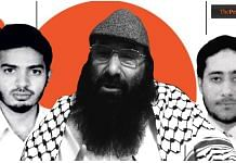 (From left) Indian Mujahideen founder Riyaz Bhatkal, Hizbul Mujahideen chief Syed Salahuddin and LeT commander Sajid Mir | Illustration: Soham Sen | Photo: Youtube grab