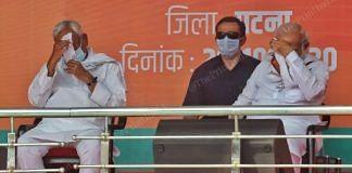 From Left to right - Bihar CM Nitish Kumar and PM Narendra Modi at a rally in Patna   Photo: Praveen Jain   ThePrint