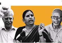 Activists Varavara Rao, Sudha Bharadwaj and Stan Swamy. They are among the 16 arrested in the Bhima Koregaon case. | Illustration: Soham Sen/ThePrint